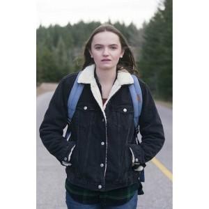 Abigail Lawrie in Star Black Jacket