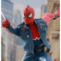 Amazing Spider Man Punk Denim Blue Vest