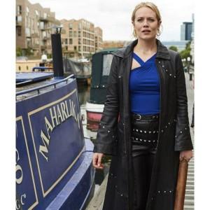 Cara Theobold Zomboat Leather Coat