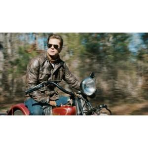 Curious Case Of Benjamin Vintage Biker Leather Jacket