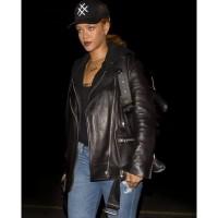 Rihanna Motorcycle Leather Jacket