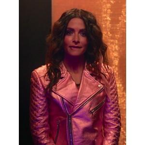 Sarah Shahi Sex/Life 2021 Billie Connelly Leather Jacket