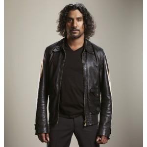 Lost Naveen Andrews Black leather jacket