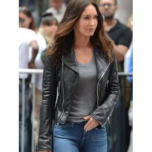 Teenage Mutant Ninja Turtles 2 Megan Fox Black Leather Jacket