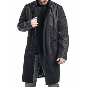 Adam Jenson Black Leather Trench Coat