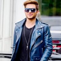 Adam Lambert Stylish Blue Jacket