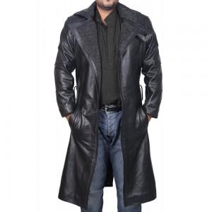 Ryan Gosling Blade Runner 2049 Long Leather Fur Coat