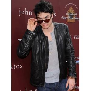 The Vampire Diaries Ian Somerhalder Black Leather Jacket